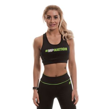 MusclePharm  #Hashtag Crop Top (Black/Lime)