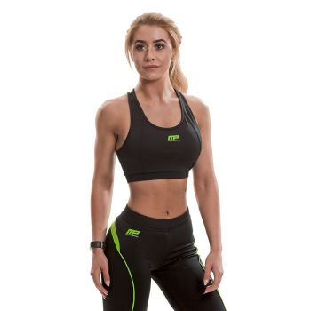 MusclePharm  Logo Crop Top (Black/Lime)