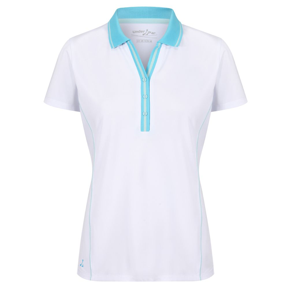 Under Par Ladies Deep Ribbed Golf Polo