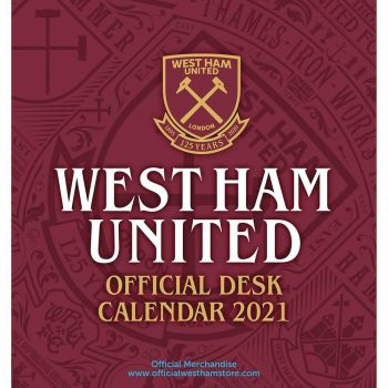 West Ham United Desktop Calendar 2021