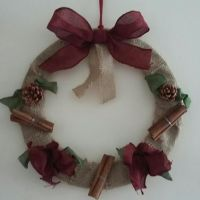 Christmas Wreath - Cinnamon & Fir Cones