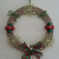 Christmas Wreath - Snowflakes & Baubles