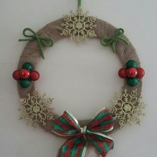 Christmas Wreath - Snowflakes & Baubles