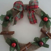 Christmas Wreath - Cinnamon & Baubles
