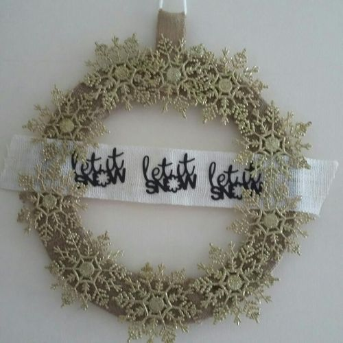 Christmas Wreath - Let it Snow
