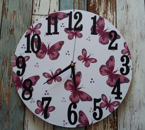 Butterflies Clock