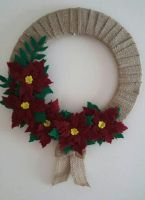 Christmas Wreath - Poinsettia