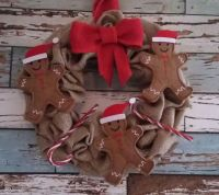 Christmas Wreath - Gingerbread Men & Candy Canes