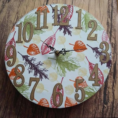 Autumn Leaf Clock