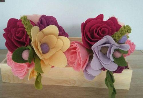 Mixed Felt Flower Bouquets