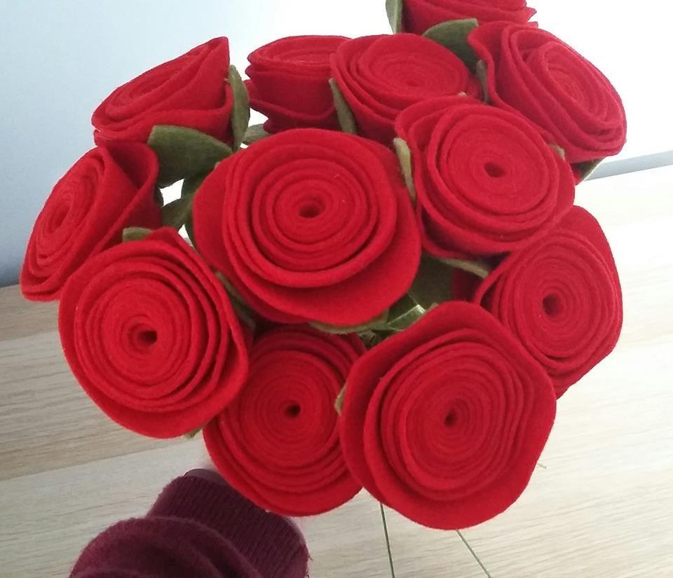 Felt Rolled Roses