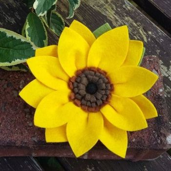 Sunflower Brooch
