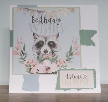 Birthday Wishes - Raccoon