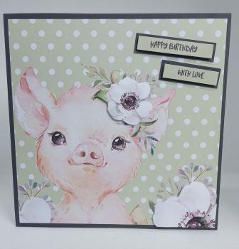 Happy Birthday With Love - Pig