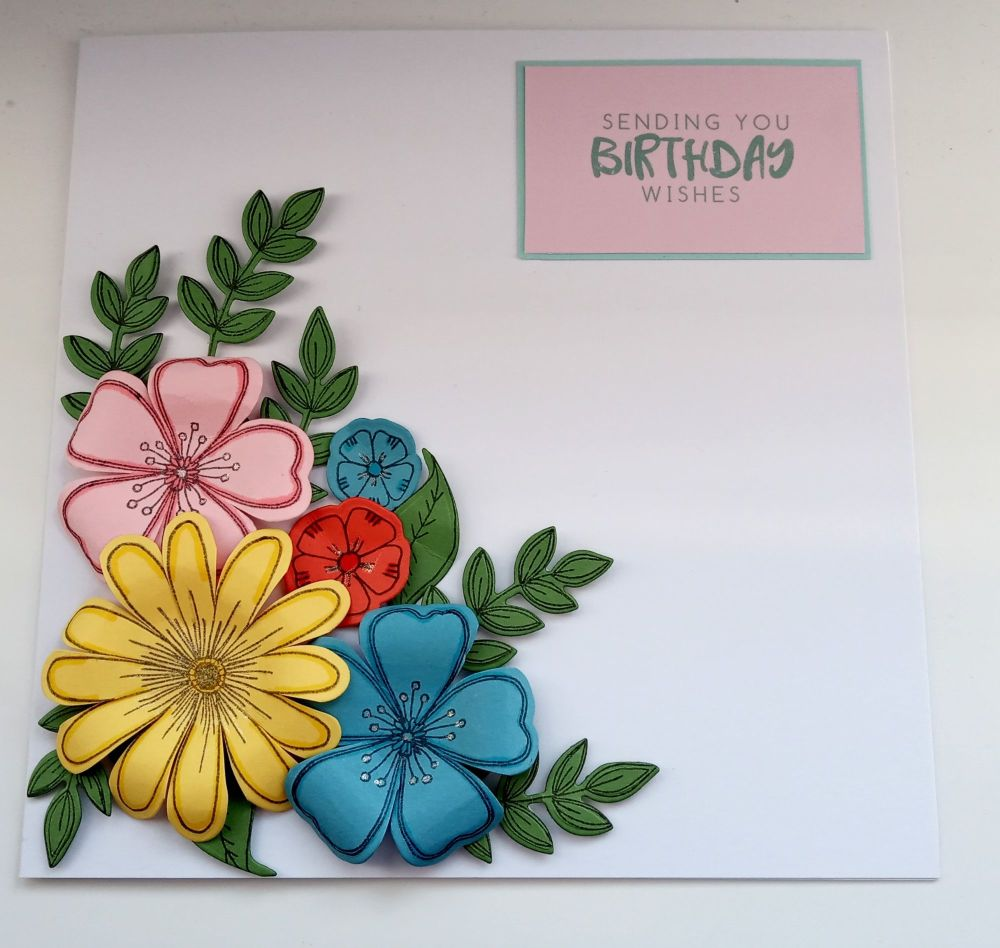 Sending You Birthday Wishes - Flowers