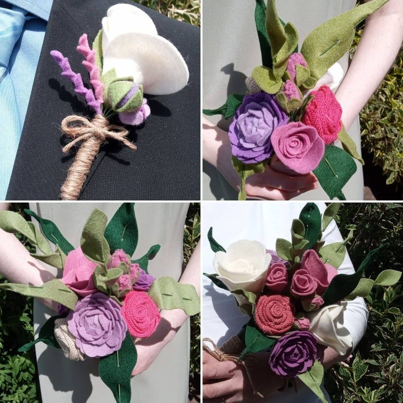 Custom order of wedding flowers and buttonholes for a customer