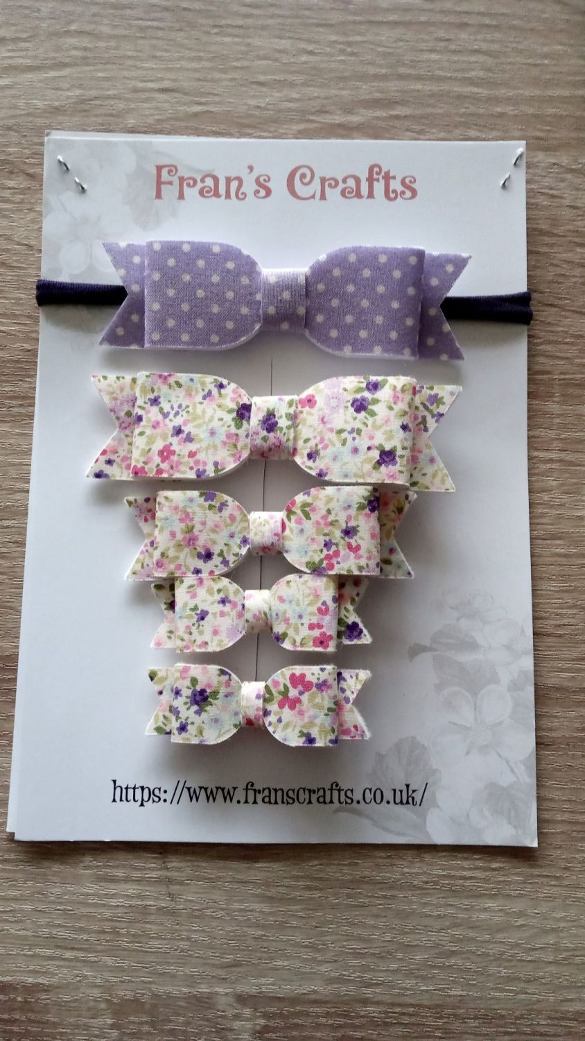 Hair Bow and Clips