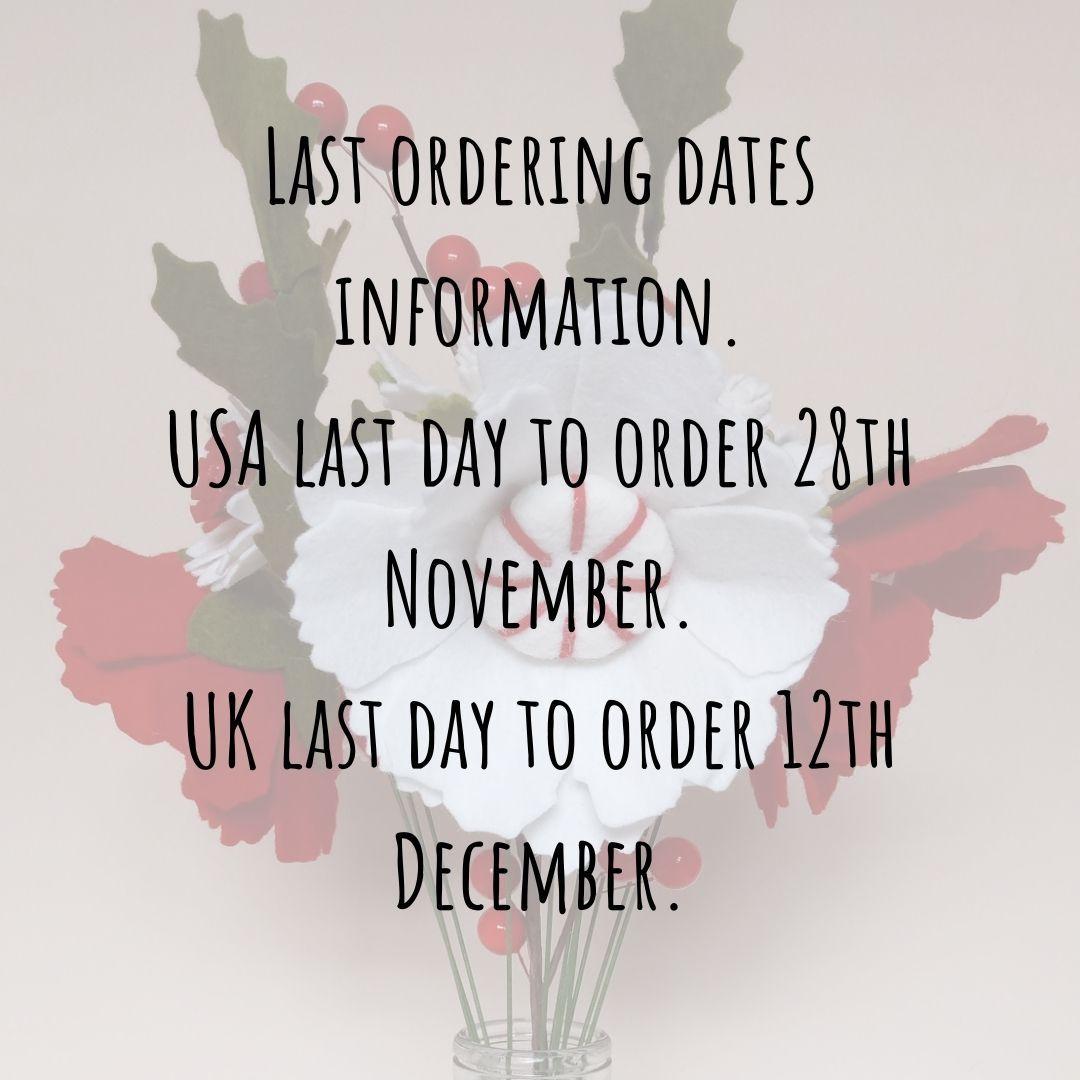 Last ordering dates