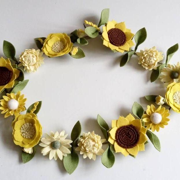 Sunflower & Mixed Flower Garland