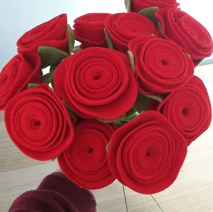 Rolled Rose Bouquet