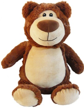 Cubbyford - Personalised Embroidered Bear - Brown
