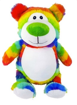 Cubbyford - Personalised Embroidered Bear - Rainbow