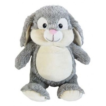 Munchkin Pie - Personalised Embroidered Bunny Rabbit - Grey