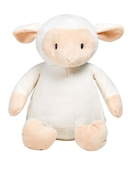 Loverby - Personalised Embroidered Lamb - White