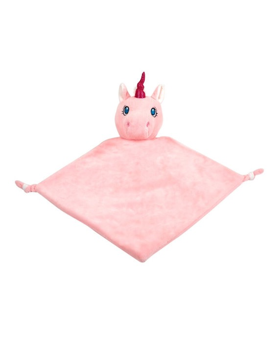 Personalised Pink Unicorn Baby Blankie
