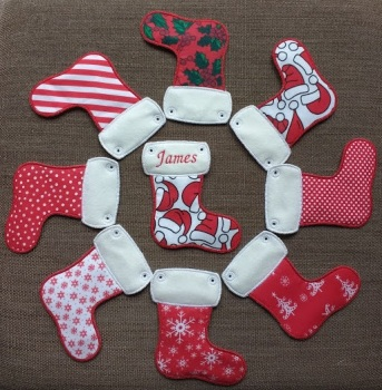 Pick & Mix Handmade Personalised Christmas Stocking Bunting