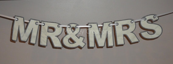 "4"" ""Mr & Mrs"" Alphabet Bunting"