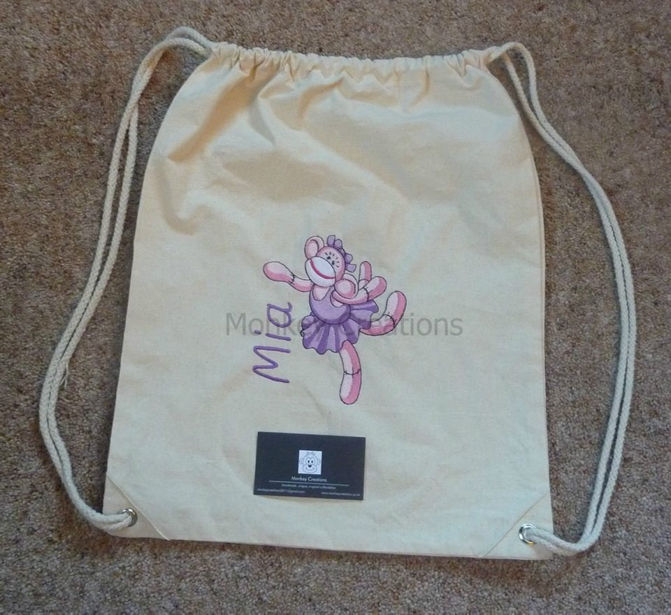 Personalised Embroidered P.E. Bag - Canvas