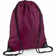 Personalised Embroidered P.E. Bag - Burgandy