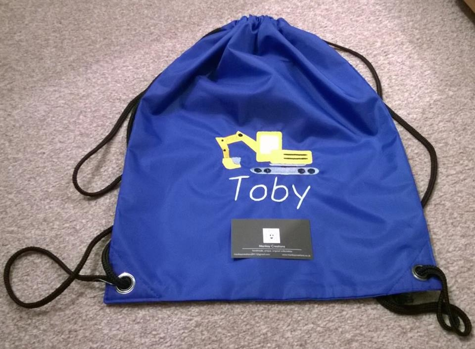 Personalised Embroidered P.E. Bag - Royal Blue