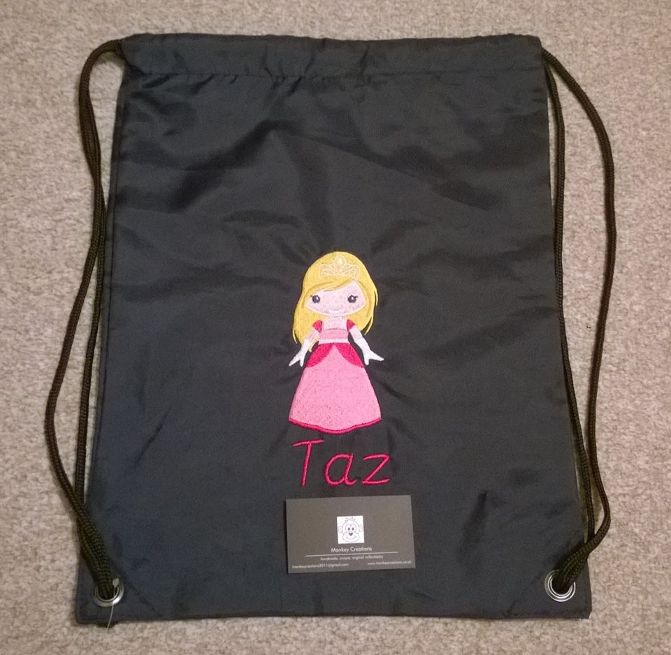 Personalised Embroidered P.E. Bag - Navy