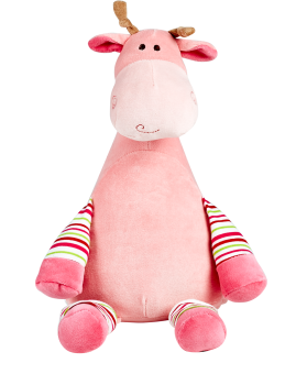 Tumble berry - Personalised Embroidered Giraffe - Pastel Pink