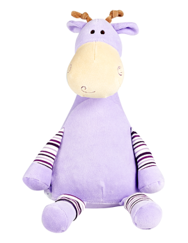 Tumble berry - Personalised Embroidered Giraffe - Pastel Purple