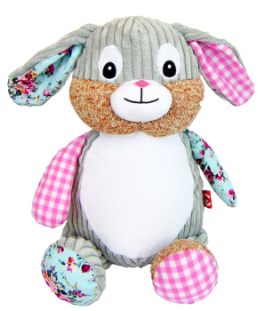 Clovis Brampton - Personalised Embroidered Bunny Rabbit - Pink