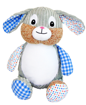 Clovis Brampton - Personalised Embroidered Bunny Rabbit - Blue