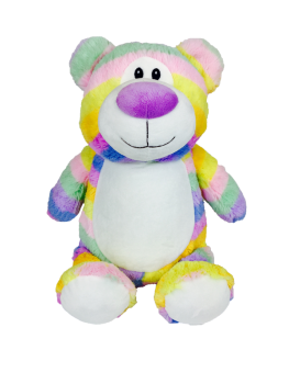 Cubbyford - Personalised Embroidered Bear - Pastel Rainbow