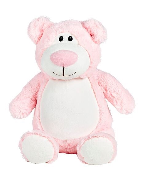 Cubbyford - Personalised Embroidered Bear - Pink