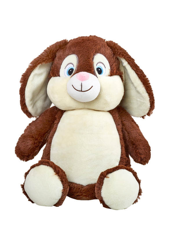 Clovis Brampton Furlong III - Personalised Embroidered Bunny Rabbit - Brown