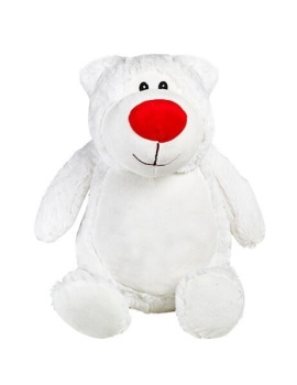 Cubbyford - Personalised Embroidered Bear - White