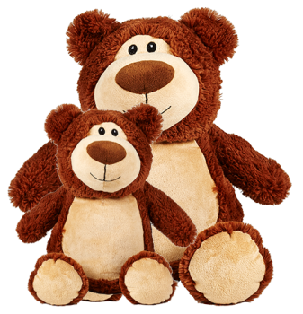 Cubbyford - Personalised Embroidered Jumbo Bear - Brown