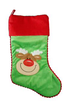 Personalised Christmas Stocking - Green Reindeer