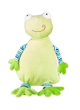 Froggle Woggle - Personalised Embroidered Frog - Pastel