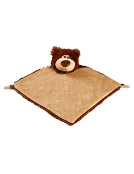 Personalised Brown Bear Baby Blankie