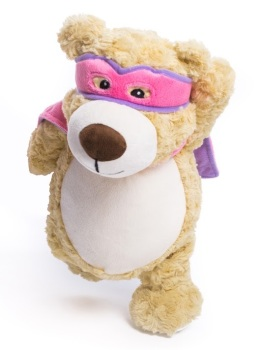 Hero Bear - Personalised Embroidered Bear - Pink