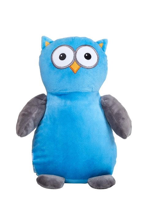 Hooty Lou - Personalised Embroidered Owl - Blue