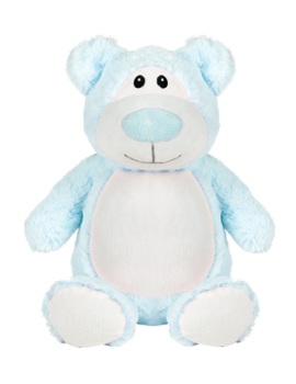 Cubbyford - Personalised Embroidered Bear - Light Blue